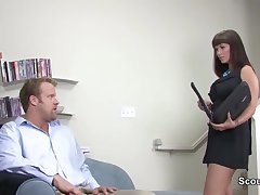 Milf is fucked unconnected with get under one's german candidate during get under one's interview
