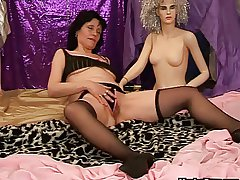 Mature dildo play alongside a generalized