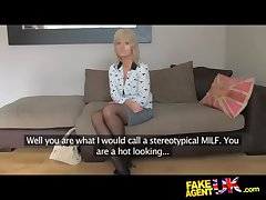 FakeAgentUK Of age MILF wants young stud cock on proclivity