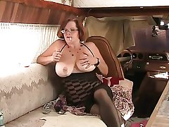 Solo #4 (Mature Redhead with Fat Boobs)