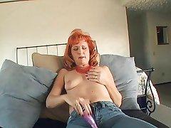 Grown-up redhead dildos