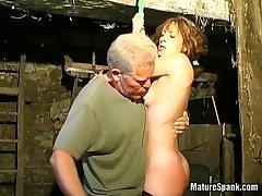 Moronic milf enjoys in hard spanking