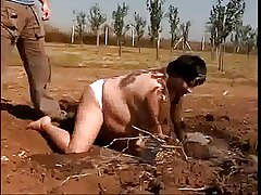 Chubby adult fucks in be passed on mud for directors