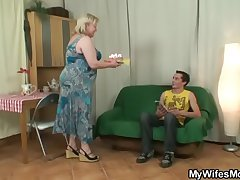 He fucks huge mother-in-law