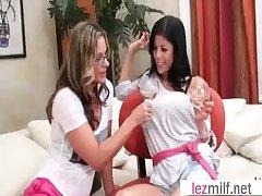 Milf Lesbians (Brianna Ray & Alexis Fawx & Kristen Cameron) Around Sex Scene clip-01