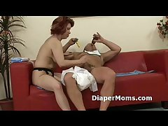Of age mama strap-on fucks Victorian adultbaby then gives him niggardly handjob