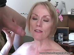 GMILF Amateur Blowjob & Facial