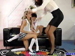 Lesbian schoolgirl pussylicks and categorizing
