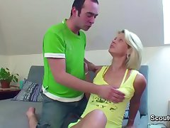 Hot Old lady Soft-soap german Step-son to fuck her relating to asshole