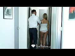 PureMature - Superintendence cadger is welcomed by obese breasted milf Abbey Brooks