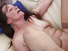 Granny battle-axe addicted not far from young cock