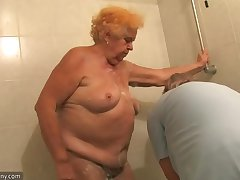 OldNanny Old Broad in the beam foetus granny sucking dick and masturbation