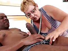 HAIRY GRANNY Concerning GLASSES GETS BBC