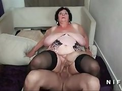 BBW French granny hard double penetrated up foursome - cutecam.org