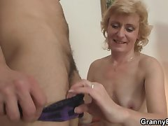 He bangs superannuated chick