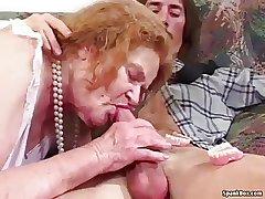 Granny loses say no to teeth while sucking
