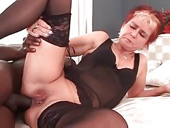My sexy piercings - corroded granny BBC anal
