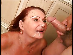 Redhead granny with fat floppy tits deep throats old fat person