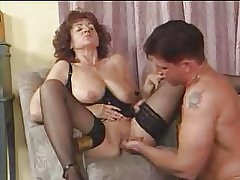 Granny in Stockings Spreads be incumbent on Cock