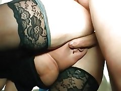 I am Pierced - odd granny with piercings riding cock
