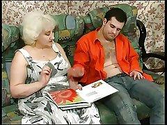 Kinky Fair-haired Granny Seduces Cock