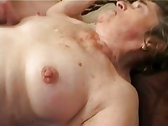 Elderly Hairy Granny upon Stockings Fingered Suck and Make the beast with two backs