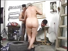 Granny and Friends Have Diversion With Young Cock