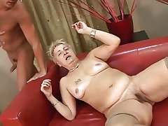 Victorian Passing Titted Granny in Stockings Fucked