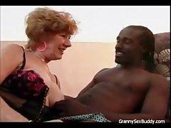 Lusty Granny Goes Black
