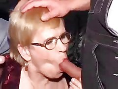 Granny coupled with two young men - 6