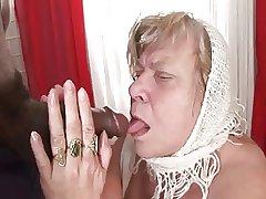 Chunky Tit BBW Granny Takes Dark Human nature