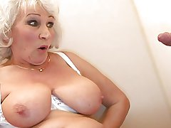 Aged BBW-Granny takes Cock on Smallest room in the house 2
