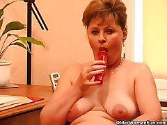 Granny anent oestrus masturbates raw her dresser