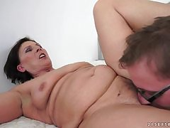 BBW granny makes sterling be useful to grandpa's small penis