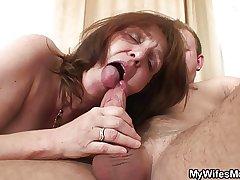 Horny bloke bangs her GF's matriarch
