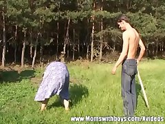 Sex-crazed Ingratiate oneself with Boy Fucks A Redhead Full-grown Outdoors
