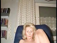 full-grown woman masturbates with finger