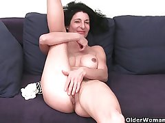 Granny in soaked panties identity card hairy and distended cunt