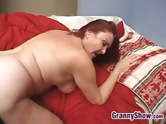 Blue Granny Enjoying THis Hard Cock