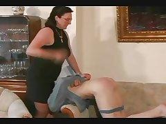 Granny Straps and Spanks the Little shaver pt3