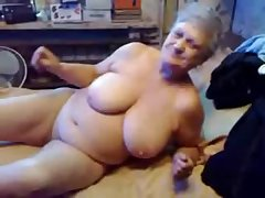 Nasty grandma fingering the brush pussy. Unconditional amateur
