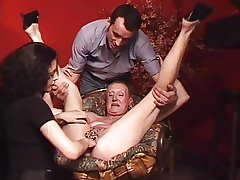 Pierced Granny with tons of genital piercings fisted