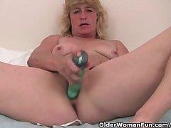 Grandma Respecting Eternal Nipples Finger Fucks Her Old Pussy