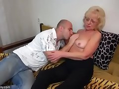 Oldnanny venerable with an increment of young strapon pumping with an increment of masturb