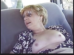 Tow-haired Granny Patrica Gets Fucked upon the In the air Seat