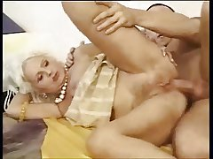 Aurous queasy granny anal fuck
