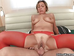 Lustful granny sucks cock added to gets fucked