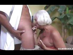 Lickerish Granny Grabs The Dull-witted Sandbar Of Veteran