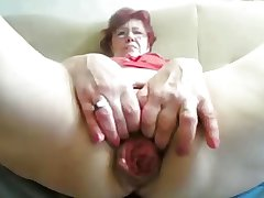 55yr old Granny Fucks Formerly larboard Prolapse will not hear of Cunt and Aggravation on Cam