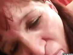 Granny new chum gets pounded